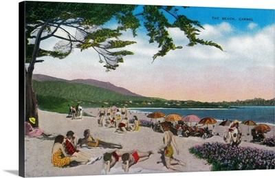 The Beach Scene at Carmel, California