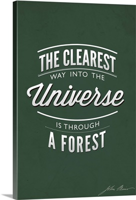 The Clearest Way Into The Universe Is Through A Forest