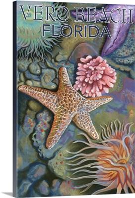 Tidepools - Vero Beach, Florida: Retro Travel Poster