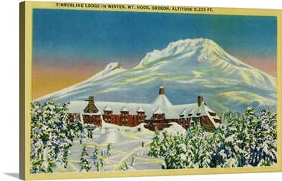 Timberline Lodge in Winter at Mt. Hood, OR