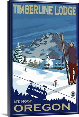 Timberline Lodge: Retro Travel Poster