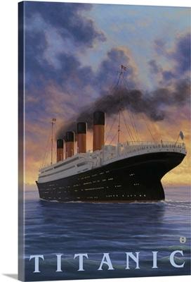 Titanic - White Star Line: Retro Travel Poster