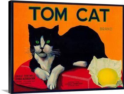 Tom Cat Lemon Label, Orosi, CA