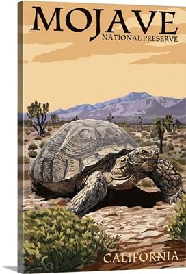 Tortoise - Mojave National Preserve, California: Retro Travel Poster