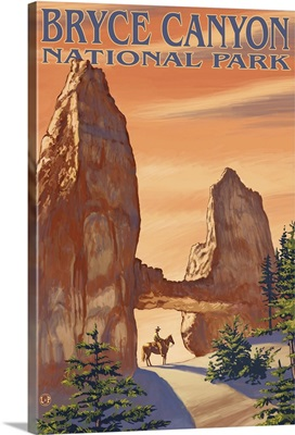 Tower Bridge - Bryce Canyon National Park: Retro Travel Poster