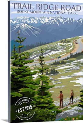 Trail Ridge Road, Rocky Mountain National Park, Rubber Stamp