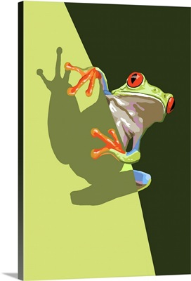 Tree Frog: Retro Poster Art