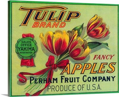 Tulip Apple Crate Label, Yakima, WA