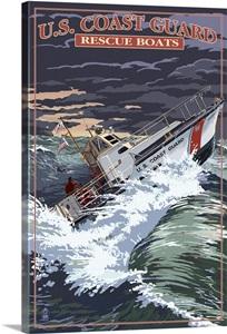 U S Coast Guard 44 Foot Motor Life Boat Retro Travel