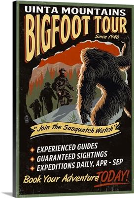 Uinta Mountains, Utah, Bigfoot Tour, Vintage Sign