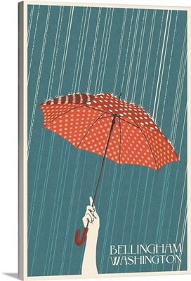 Umbrella Letterpress - Bellingham, WA: Retro Travel Poster