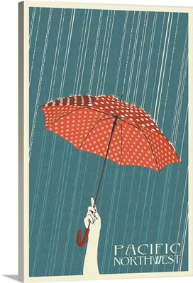 Umbrella Letterpress - Pacific Northwest, WA: Retro Travel Poster