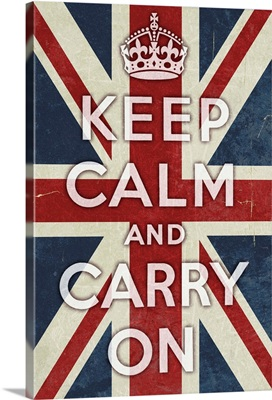 Union Jack - Keep Calm and Carry On: Retro Poster Art
