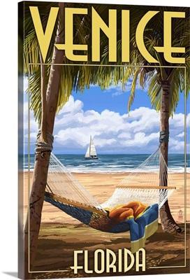 Venice, Florida - Palms and Hammock: Retro Travel Poster