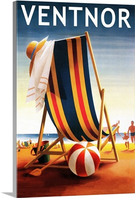 Ventnor, New Jersey, Beach Chair and Ball