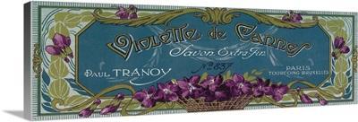 Violette De Cannes Soap Label, Paris, France