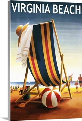 Virginia Beach, Virginia, Beach Chair and Ball