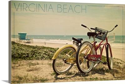 Virginia Beach, Virginia, Bicycles and Beach Scene