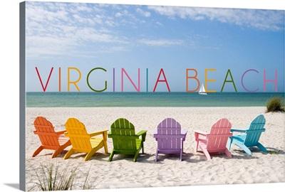 Virginia Beach, Virginia, Colorful Chairs