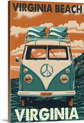 Virginia Beach, Virginia, VW Van