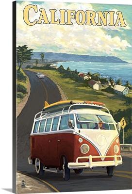 VW Van, California Coast
