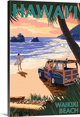 Waikiki Beach, Hawai'i, Woody on Beach