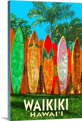 Waikiki, Hawai'i, Surfboard Fence