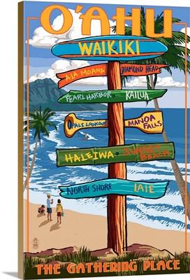 Waikiki, O'ahu, Hawaii, Sign Destinations, The Gathering Place