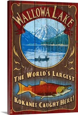Wallowa Lake, Oregon - Vintage Sign: Retro Travel Poster