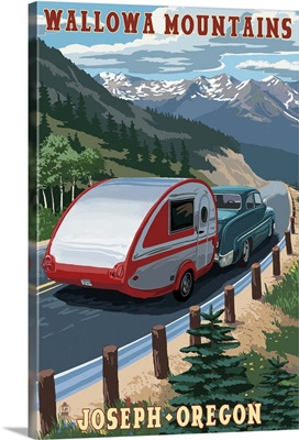 Wallowa Mountains, Joseph, Oregon, Retro Camper