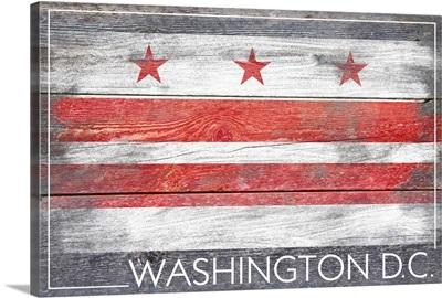Washington DC Flag, Barnwood Painting