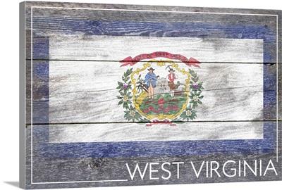 West Virginia State Flag, Barnwood Painting