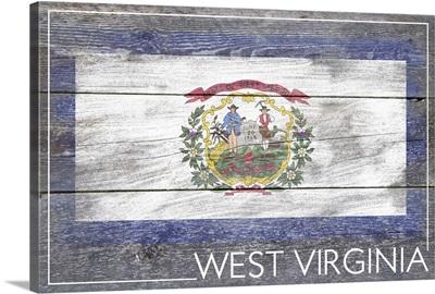 West Virginia State Flag on Wood