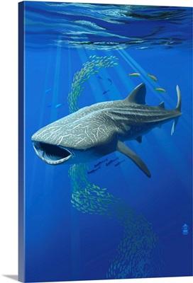 Whale Shark: Retro Poster Art