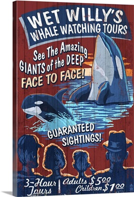 Whale Watching Tours, Vintage Sign