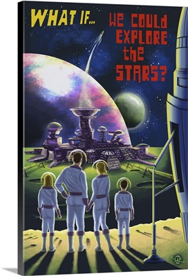 What If We Could Explore The Stars: Retro Poster Art