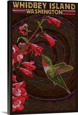 Whidbey Island, Washington, Hummingbird, Mosaic