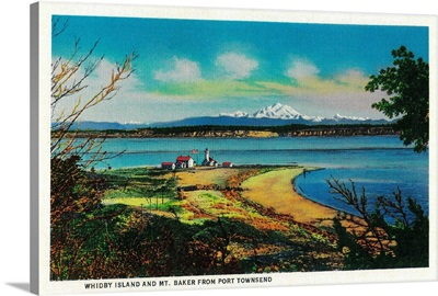 Whidby Island and Mt. Baker from Port Townsend, WA