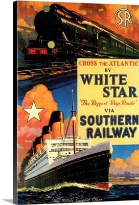 White Star SR Vintage Poster, Europe