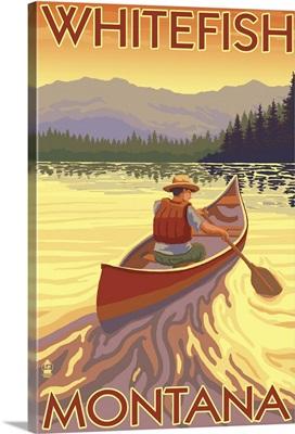 Whitefish, Montana, Canoe Scene