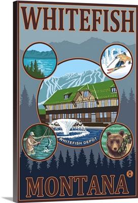 Whitefish, Montana: Retro Travel Poster