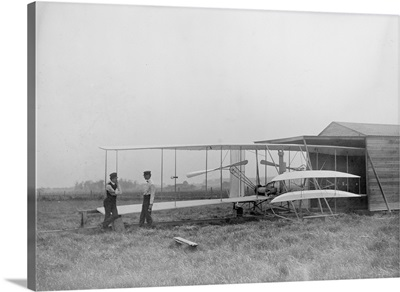Wilbur and Orville Wright in second powered machine, Dayton, OH
