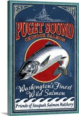 Wild Salmon, Puget Sound, Washington