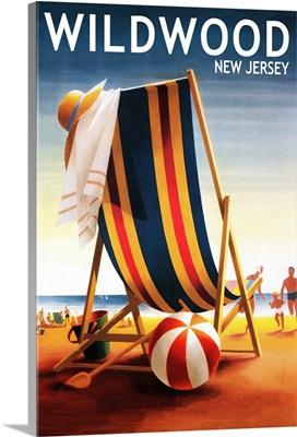 Wildwood, New Jersey, Beach Chair and Ball