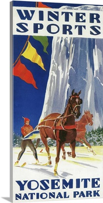 Winter Sports at Yosemite Poster, Yosemite, CA