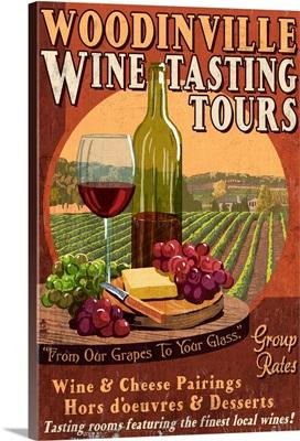 Woodinville, Washington, Wine Tasting Vintage Sign