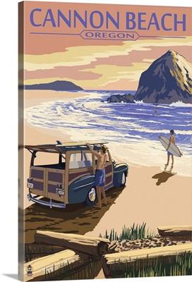 Woody on the Beach, Haystack Rock, Cannon Beach, Oregon
