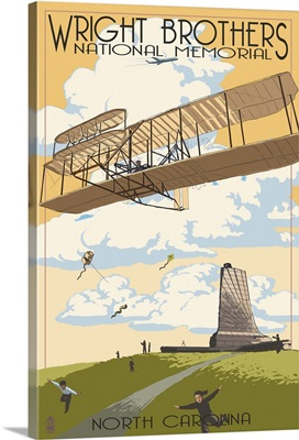 Wright Brothers National Memorial - Outer Banks, North Carolina: Retro Travel Poster