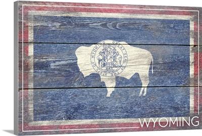 Wyoming State Flag, Barnwood Painting