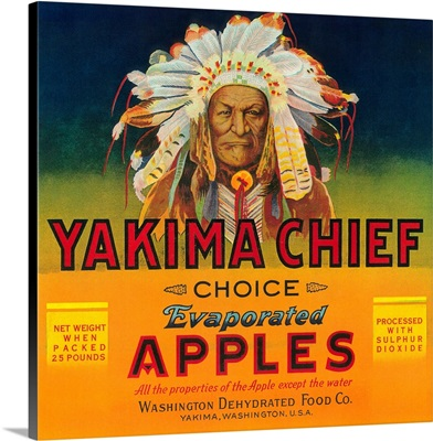 Yakima Chief Apple Label, Yakima, WA